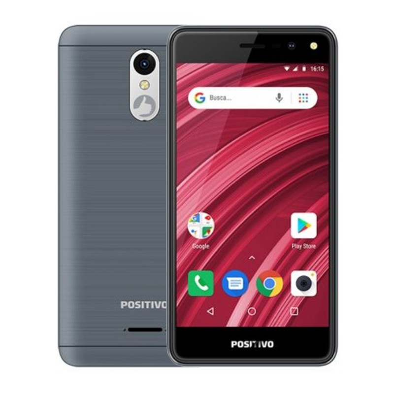 Smartphone Positivo Twist 2 Fit S509 DS 512MB/8GB 5.0 5MP/5MP A8.0 - Gris