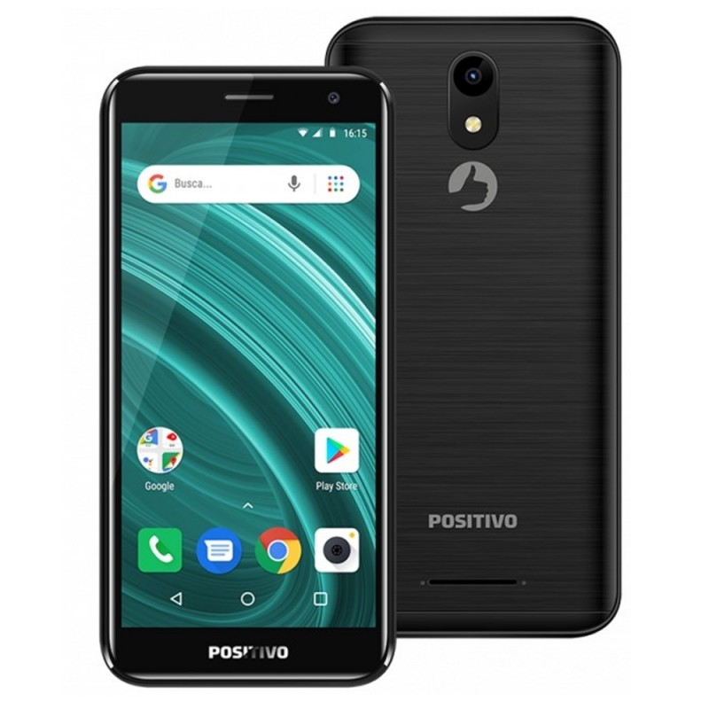 Smartphone Positivo Twist Go 2 S541 DS 1/8GB 5.0 8MP/8MP A8.0 - Negro