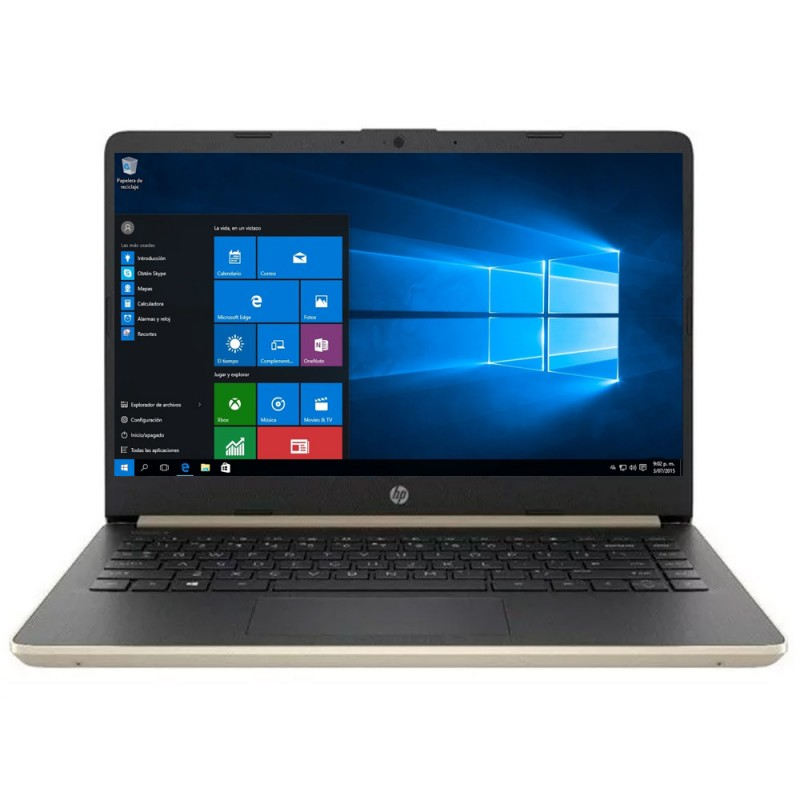Notebook HP 14-DQ1038WM de 14 com Intel I3-1005G1/4GB RAM/128GB SSD/W10 - Dorado