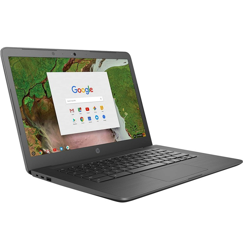 Notebook HP Chromebook 14 G5 HP-3PD87UT  14 con Celeron N3350/8GB RAM/32GB eMMC/Chrome OS - Gris
